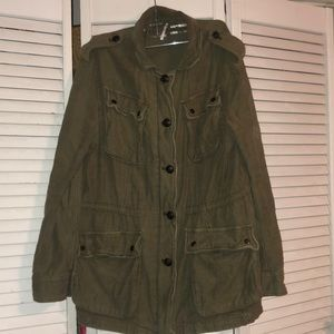 Free People Military Parka Jacket Army Green